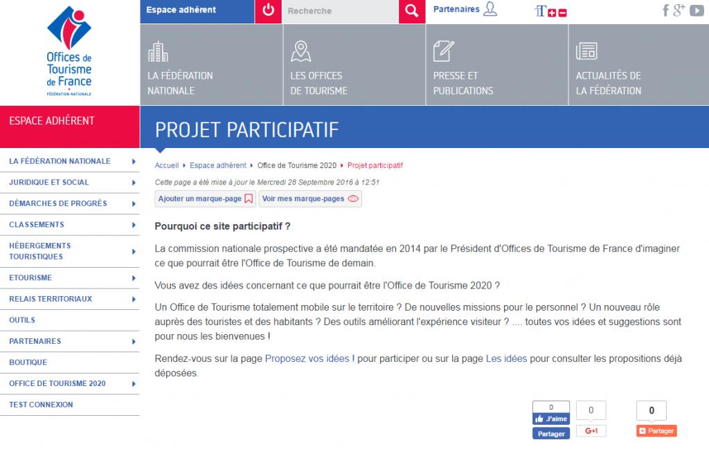 projet participatif Offices de Tourisme 2020